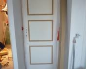 Finest Dcoration Interieur Pose De Moulure Sur Porte With Decorer Porte  Interieur